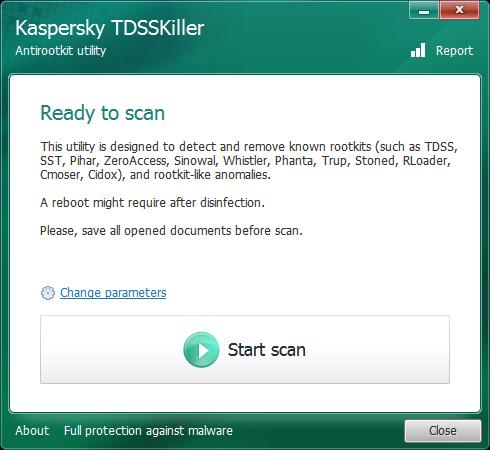Kaspersky TDSSKiller je připraven