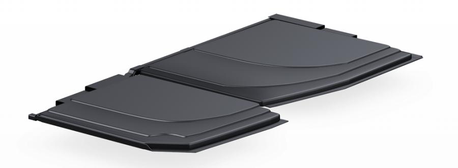 Speciální, vrstvená baterie maximálně využívá prostor šasi nového MacBooku