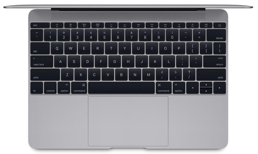 Nový MacBook disponuje renovovanou klávesnicí roztaženou přes celou jeho šířku
