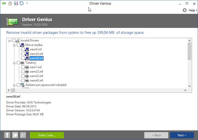Driver Cleanup odhalí různé nadbytečné soubory související s ovládači, které se potulují v systému