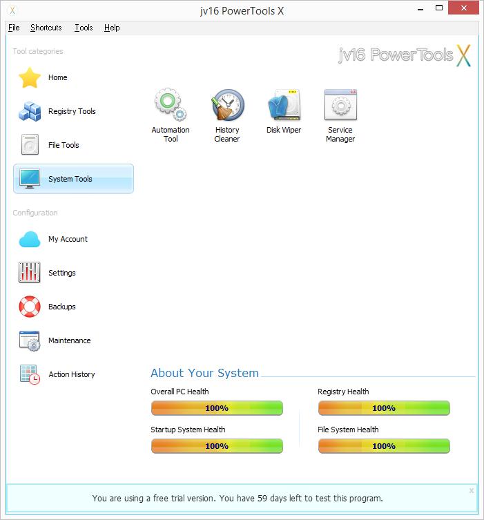 Systémové nástroje jv16 PowerTools X