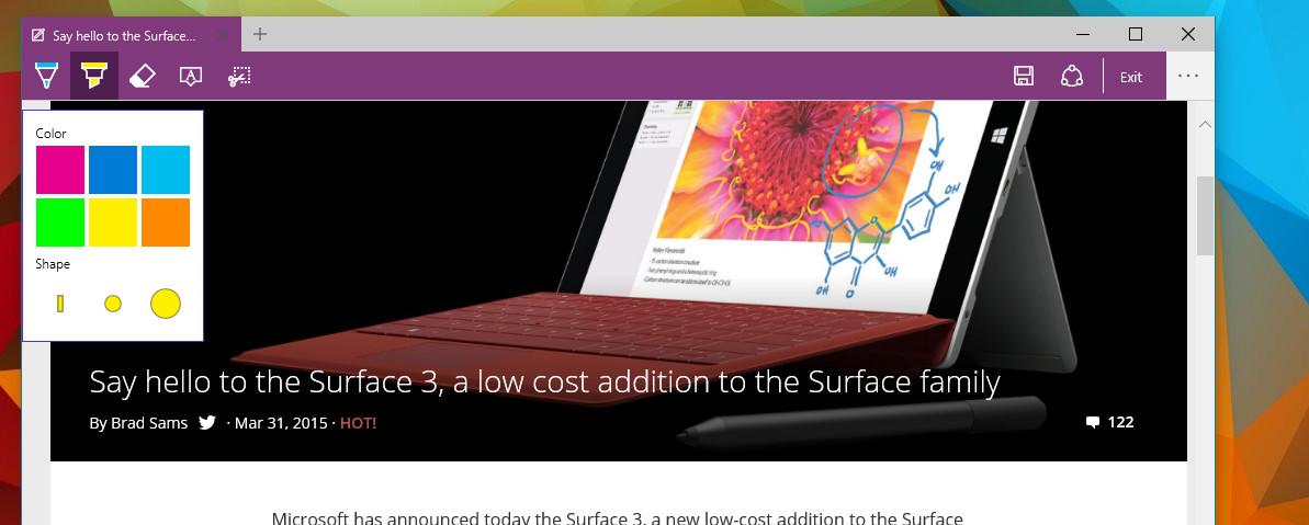 Příští prohlížeč nabídne funkci vytváření poznámek přímo v surfovaném obsahu (Zdroj: Neowin.net)