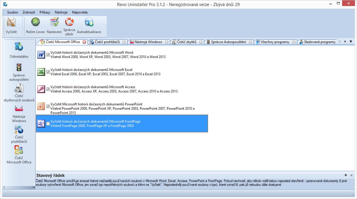 Čistič Microsoft Office zahladí stopy po vámi naposledy otevíraných dokumentech kancelářského balíku