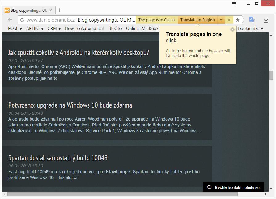Yandex automaticky použije všechna dostupná data na Chromiu postavených prohlížečů v systému