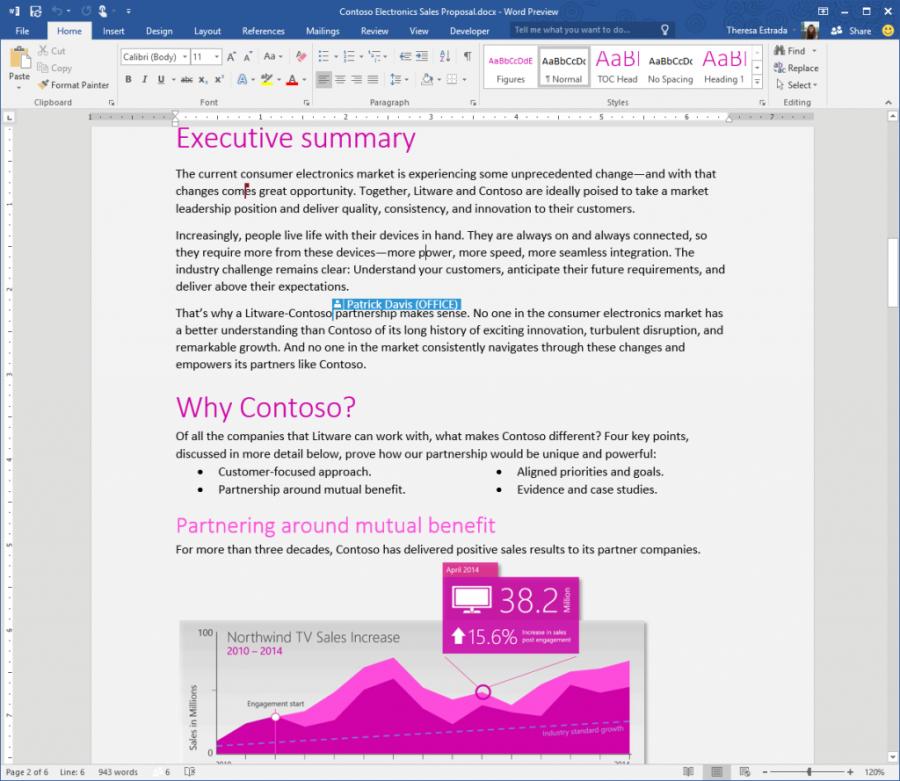 Word Office 2016: kolaborace v reálném čase bez ohledu na zařízení a systém