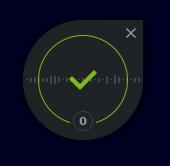 Bitdefender Total Security: interaktivní terčík indikující ochranu