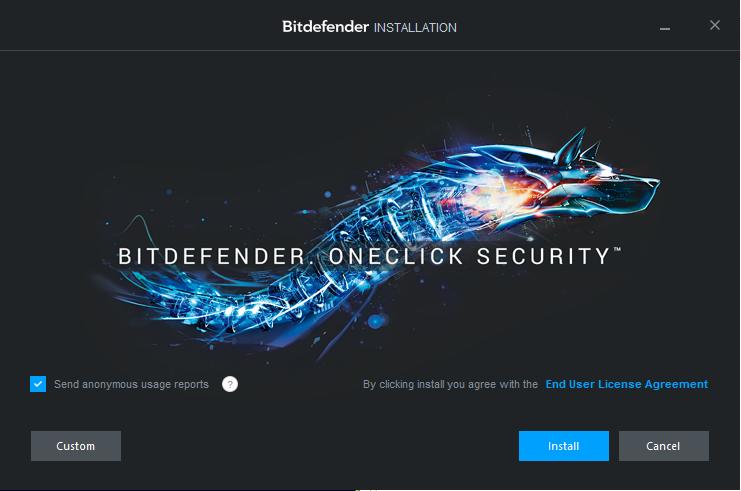 Bitdefender Total Security: při instalaci rovnou skenuje