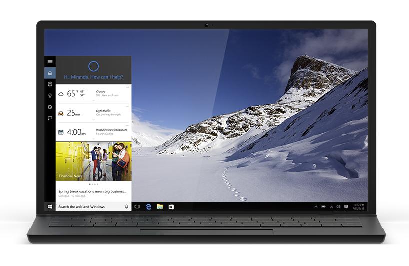 Zásadní novinkou Windows 10 bude implementace hlasové asistentky Cortany napříč systémem