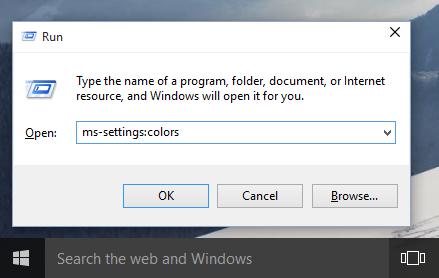 Inicializace nastavení Správa barev přes příkazový řádek ve Windows 10 (Zdroj: WinAero.com)