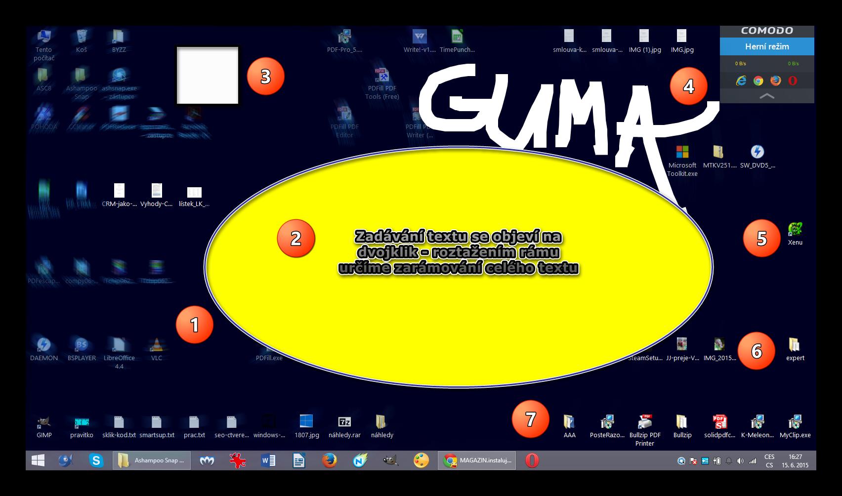 Ashampoo Snap 2015: zachycený fullscreen a aplikace několika nástrojů