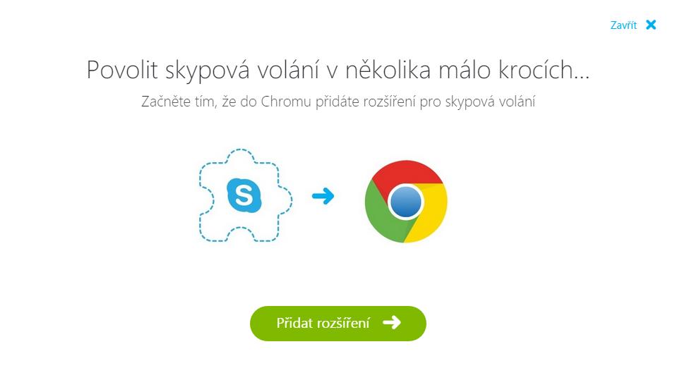 Skype for Web: videokomunikace vyžaduje nejprve nainstalovat rozšíření Skype Calling
