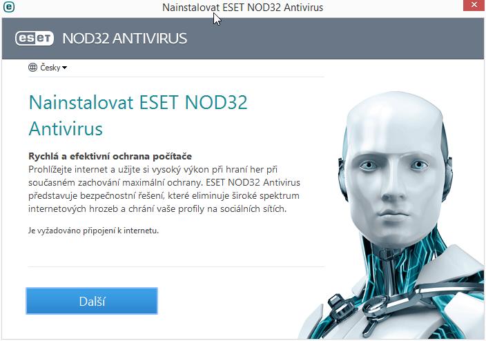 ESET NOD32 Antivirus: průvodce instalací připraví všechny potřebné komponenty
