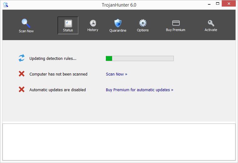 TrojanHunter se bez dalšího ptaní začne rovnou instalovat do systému