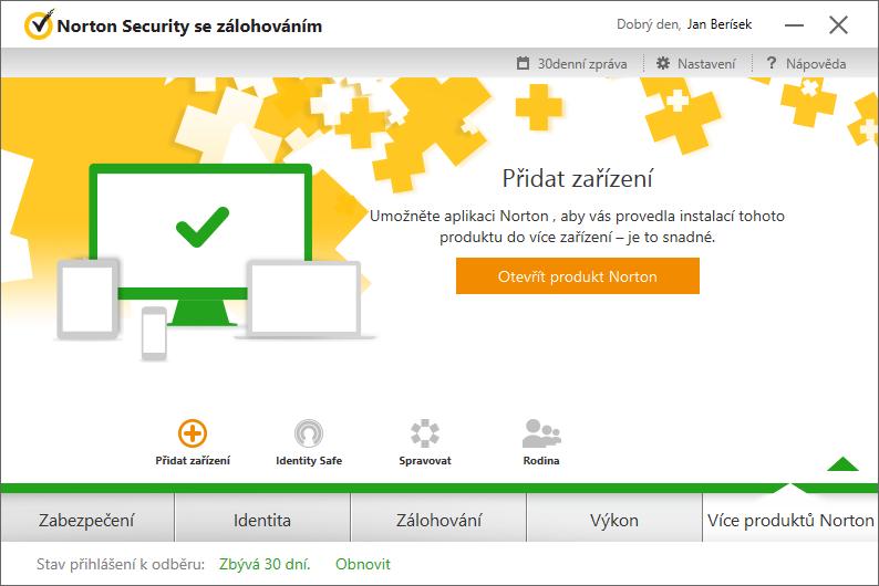 Norton Security Více produktů Norton - podivně roztříštěné a opět špatně označené webové služby