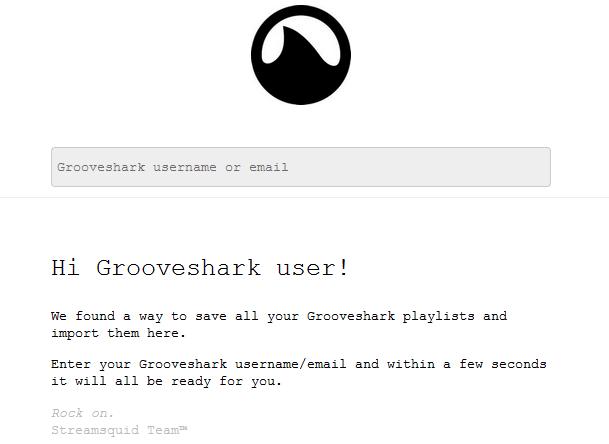 StreamSquid zachraňuje seznamy skladeb uživatelů Groovesharku