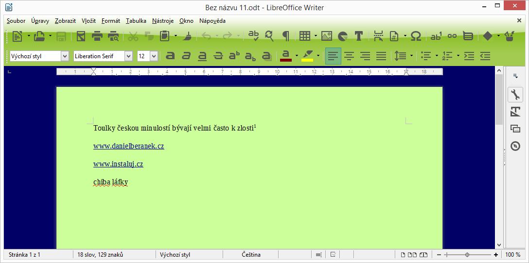 LibreOffice plně vizuálně přizpůsobený svému uživateli