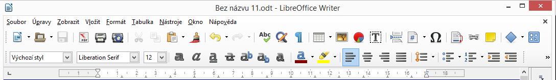 LibreOffice: ikony ovládacích prvků
