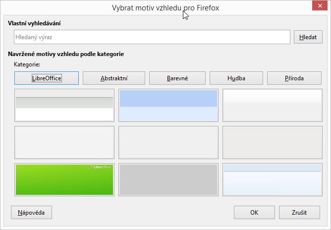LibreOffice: vybrat témata Firefoxu můžeme několika způsoby