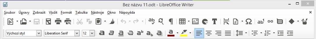 LibreOffice: změněna výchozí sada ikon na Sifr s automatickou velikostí, vyhlazením a měřítkem 100 %