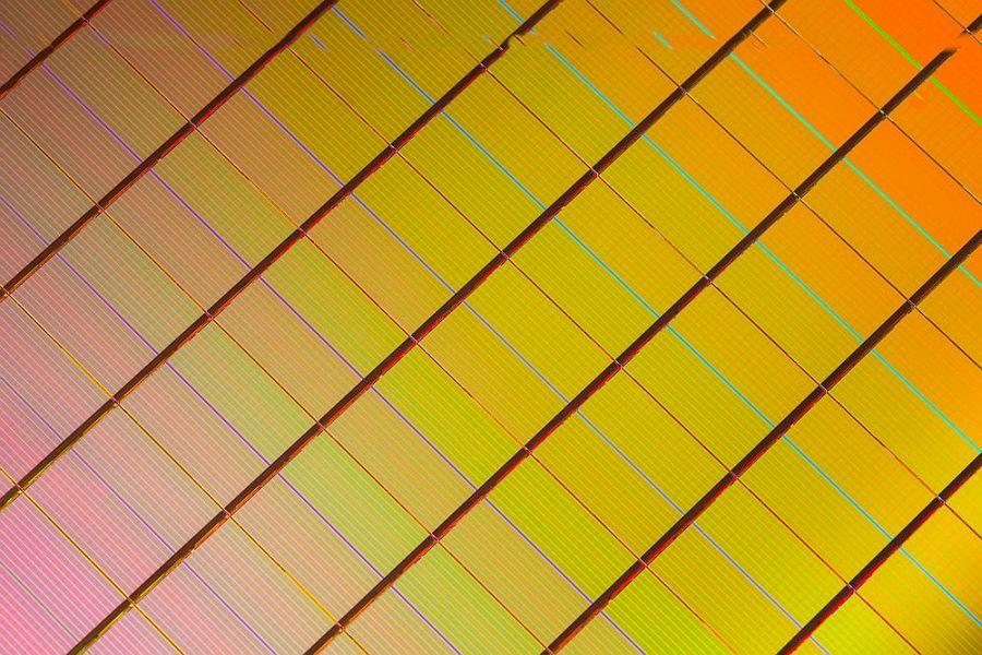 3D XPoint: struktura waferu s paměťovými čipy