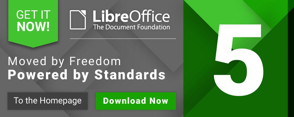 LibreOffice redesignoval prvky webu i aplikace - chce zvýraznit přelomovost nové verze