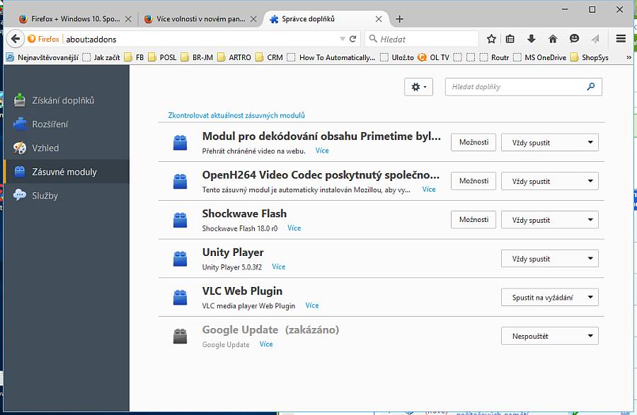 Firefox 40: lehké změny vzhledu se dostalo Správci doplňků