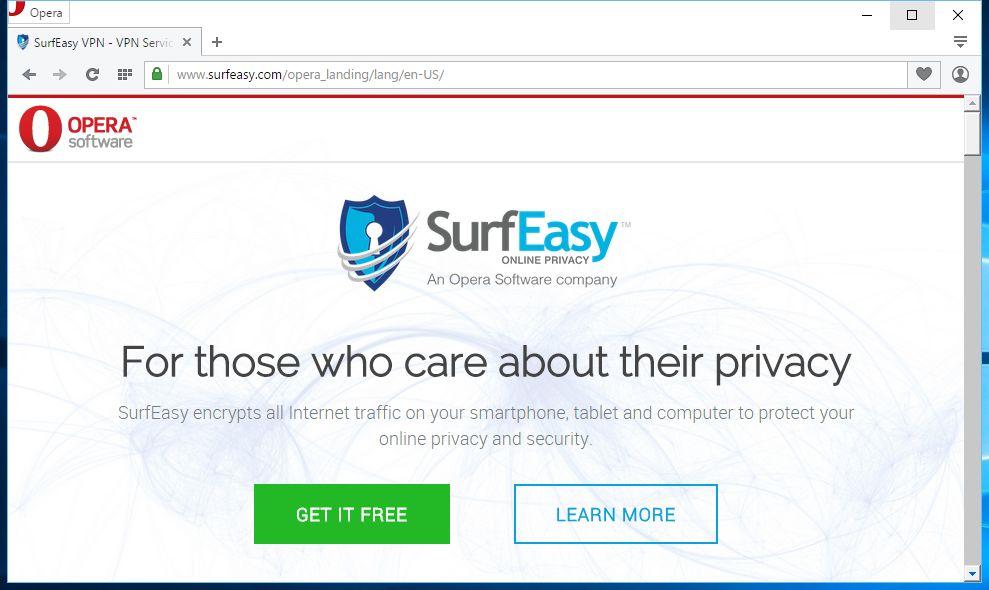 SurfEasy je jako  vložení pohlednice internetové komunikace do trezoru, který bude převážet obrněný vůz v jakémsi skrytém betonovém tunelu