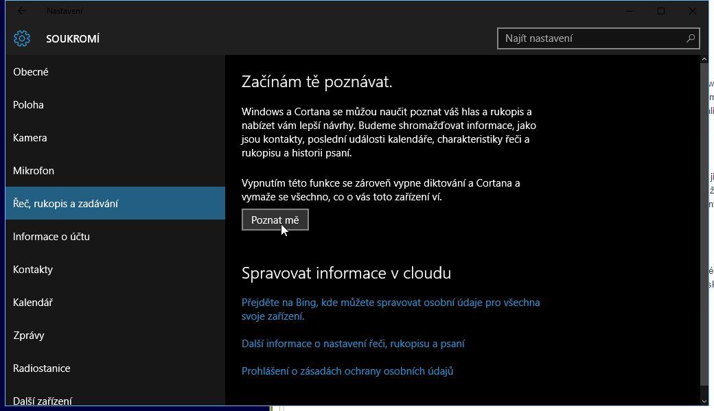 I Windows Vám může našeptávat, například koho ze svých kontaktů právě hledáte