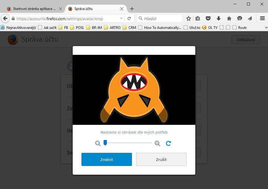 Firefox 41 vám umožní se vyřádit na vlastním avataru