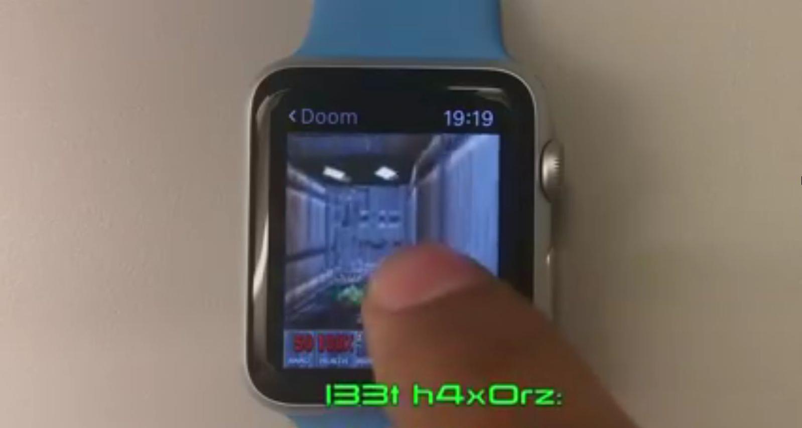 Při ovládání DOOMu na Apple Watch se musíte hodně snažit