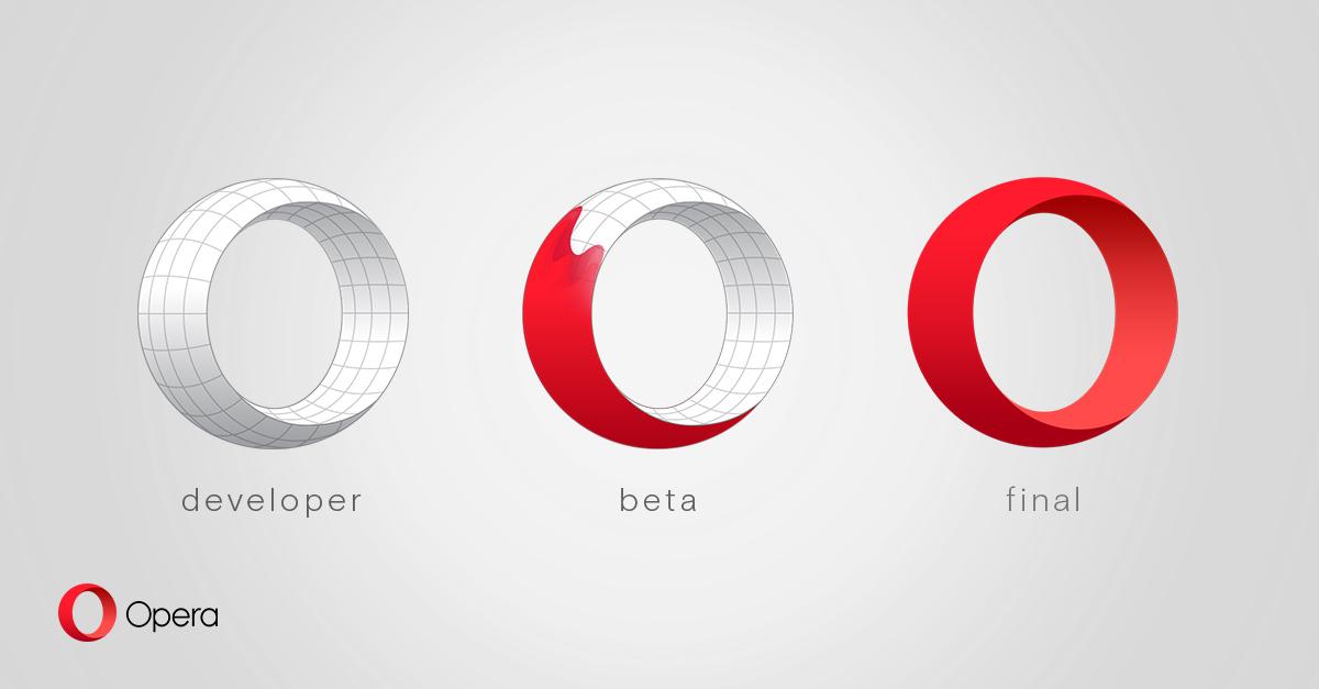 Rozrůznění prstencovitého óčka pro různé vývojové verze Opery