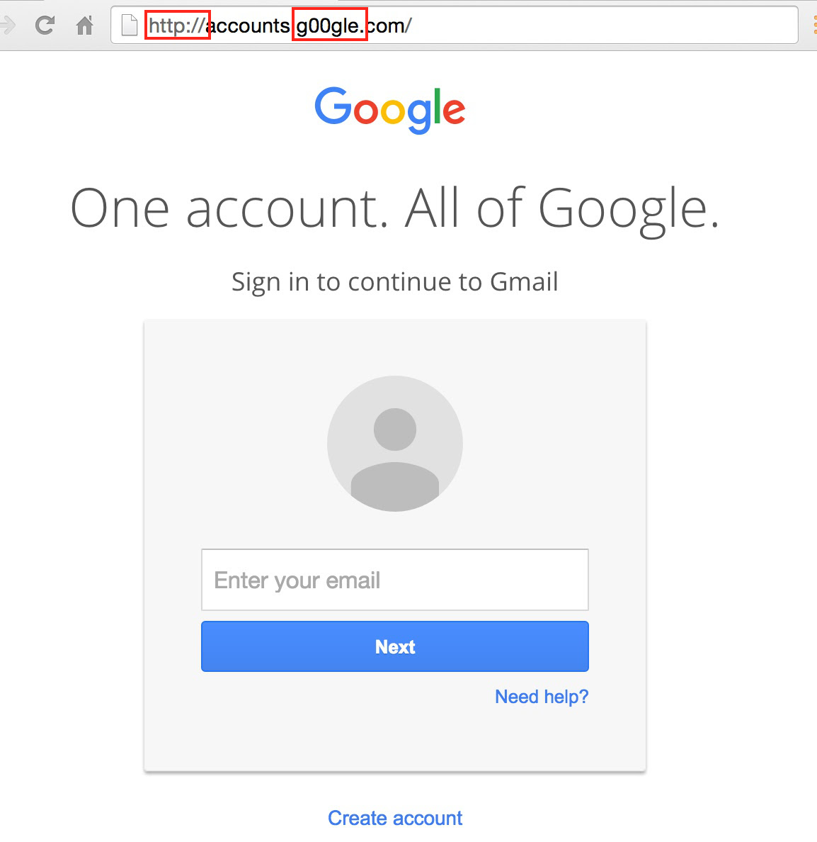 Podvržené rozhraní služeb Googlu vyzývá k zadání citlivých informací - ovšem podvrh znalému oku neujde