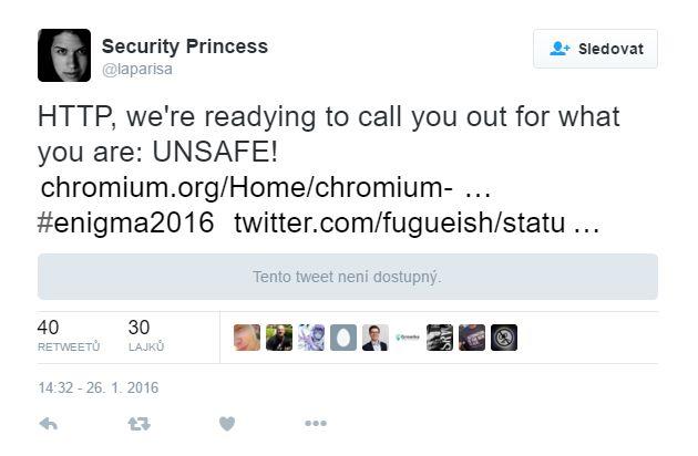 Hej - HTTP - už jsme skoro ready říkat o Tobě, co skutečně jsi: NE-BEZPEČNÝ!