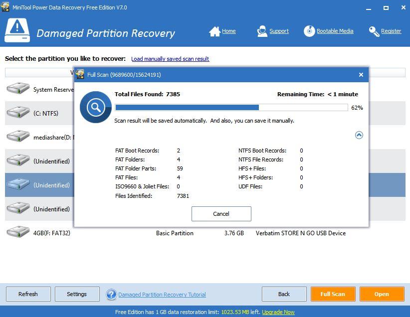 Záchrana dat z poškozených diskových oddílů