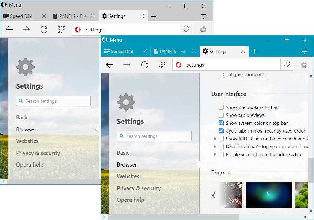 Přizpůsobení se systému Windows 10 zahrnuje i možnost využití systémových barev