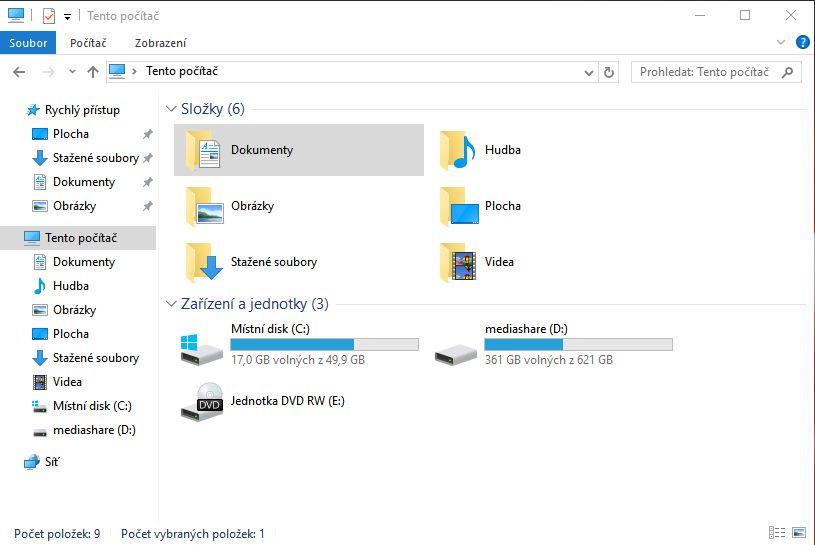 Klasický Průzkumník souborů (zde ve variantě Windows 10) čeká změna