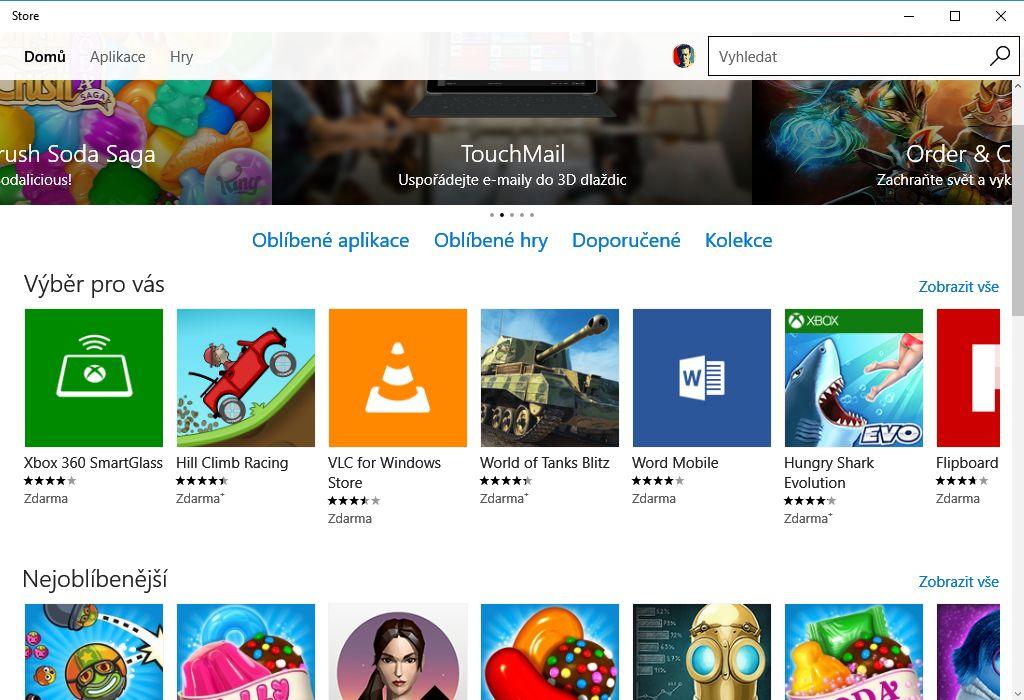 Windows Store resetovaný, opět plně funkční
