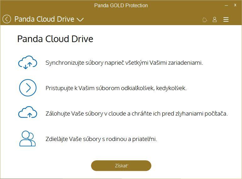 Panda Cloud Drive má patrně odkazovat k Online záloze
