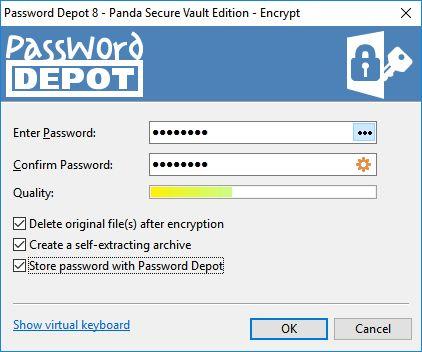 Password Depot 8 obstará i šifrování a dešifrování chráněných souborů
