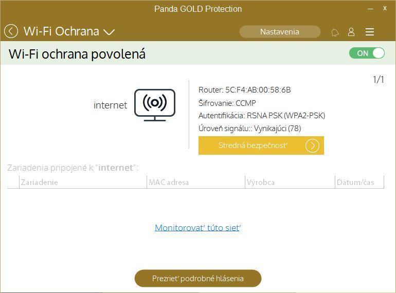 Panda Gold Protection poradí i se zabezpečením Wi-Fi sítě