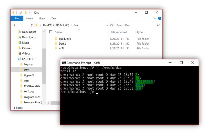 Bash volně běžící v systému Windows 10 po výročním povýšení