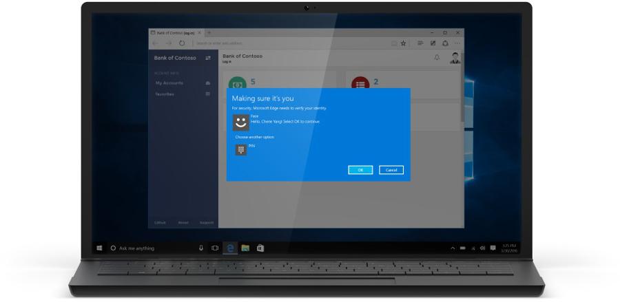 Autentizace pomocí Windows Hello bude záležitostí jednoho mrknutí foťáku