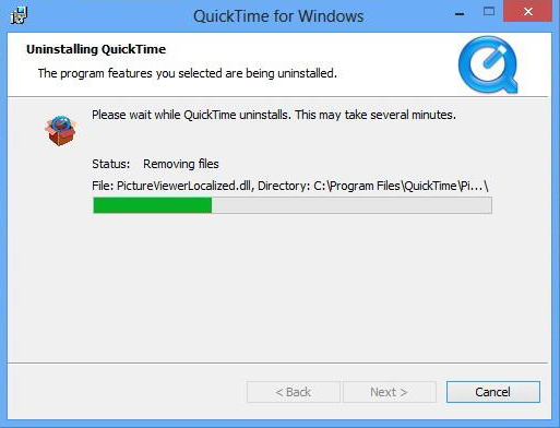 Bezodkladně odinstalujte program QuickTime z Windows