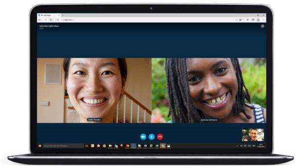 Webový Skype předvádí videovolání bez pluginů v prohlížeči Microsoft Edge