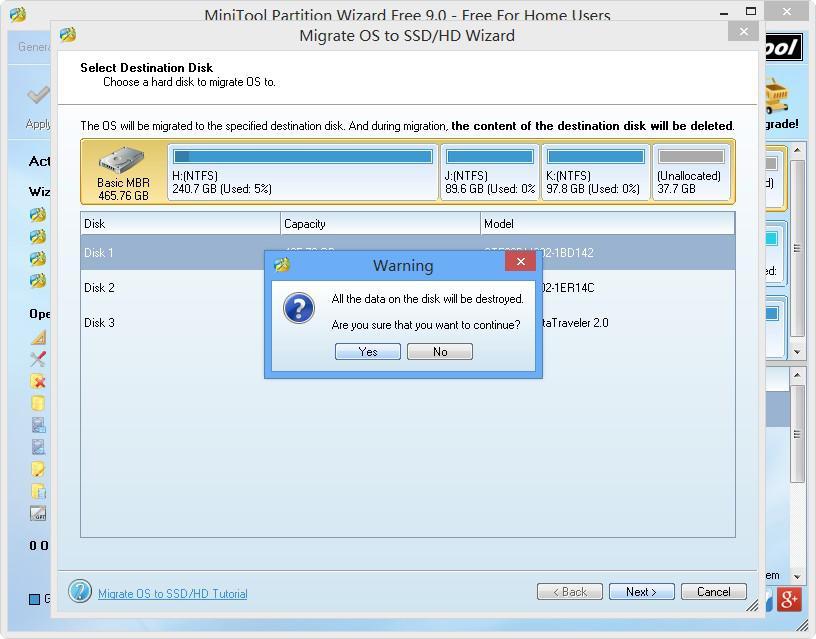 MiniTool Partition Wizard: migrace operačního systému mezi HDD a SSD
