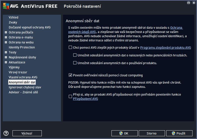 Konfigurace AVG Protection FREE skrývá zajímavá nastavení