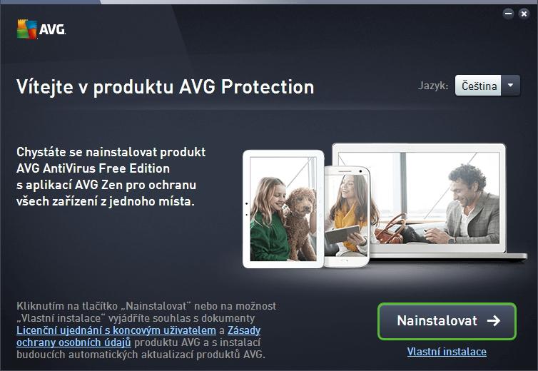 AVG AntiVirus Free 2016: instalace je prostá