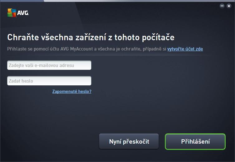 Přihlášením do AVG MyAccount se chtě nechtě spustí povýšení produktu na AVG Internet Security