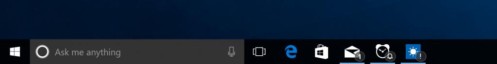 Bublinkové oznámení na ikonkách univerzálních aplikací