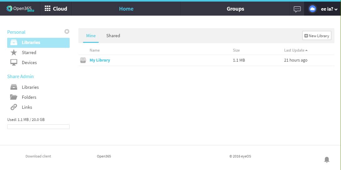 Cloud Open365 skýtá klasické rozhraní pro online správu souborů